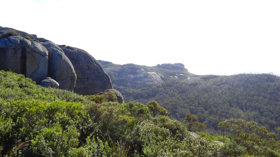 Ausblick Three-peak-loop, Porongurup NP, Wandern Australien