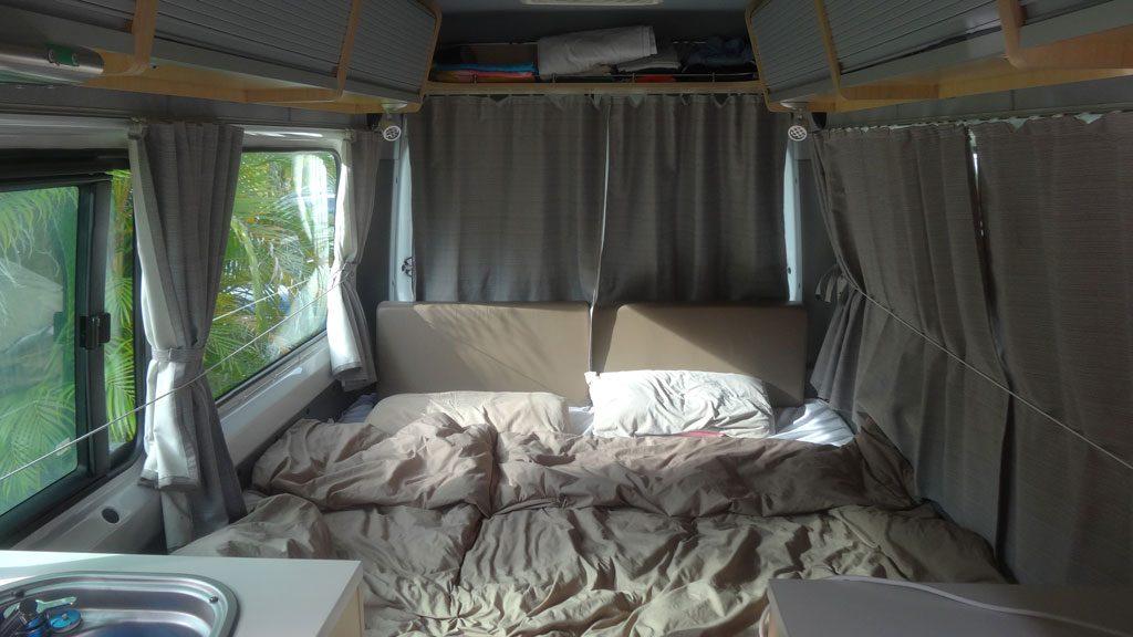 Bett im Camper (Sprinter)