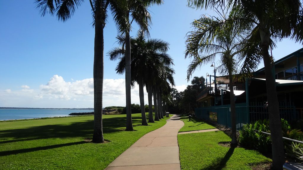 Promenade in der Cullen Bay in Darwin
