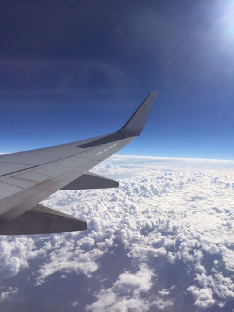 Der Flug nach Australien