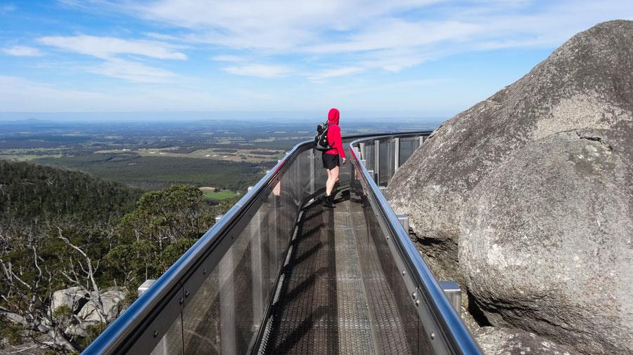 Granite Skywalk, Porongurup Nationalpark, Wandern Australien