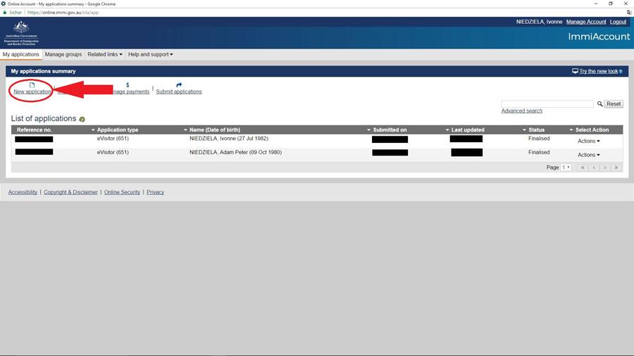 Australien Visum e-Visitor651