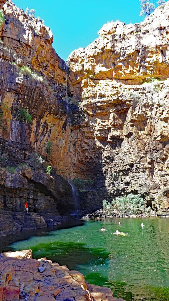 Katherine Gorge Billabong mit Wasserfall