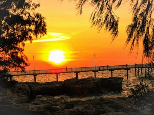 Sonnenuntergang am Nightcliff-Jetty