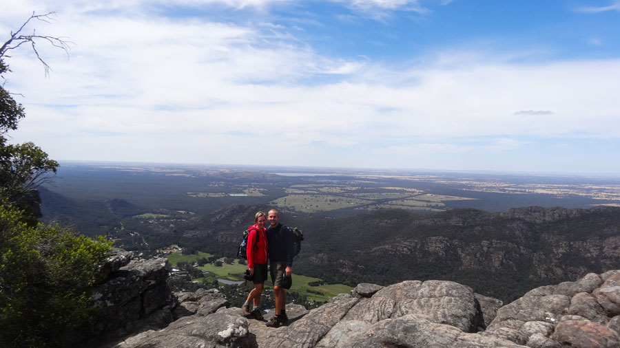 The Pinnacle- den Gipfel erreicht, Grampians Nationalpark Australien