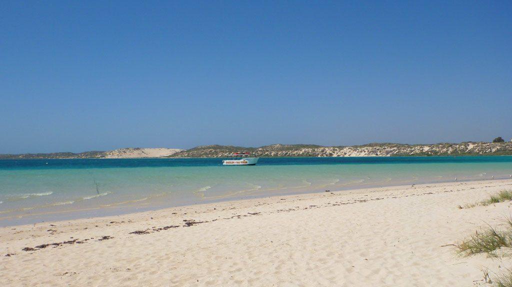 Ausblick auf den Strand in Coral Bay