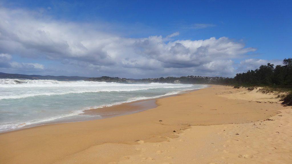 Weitläufiger Aslings Beach in Eden