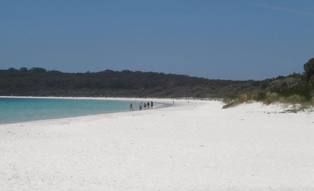 Ausblick auf den Hyams Beach im Booti Booti Nationalpark