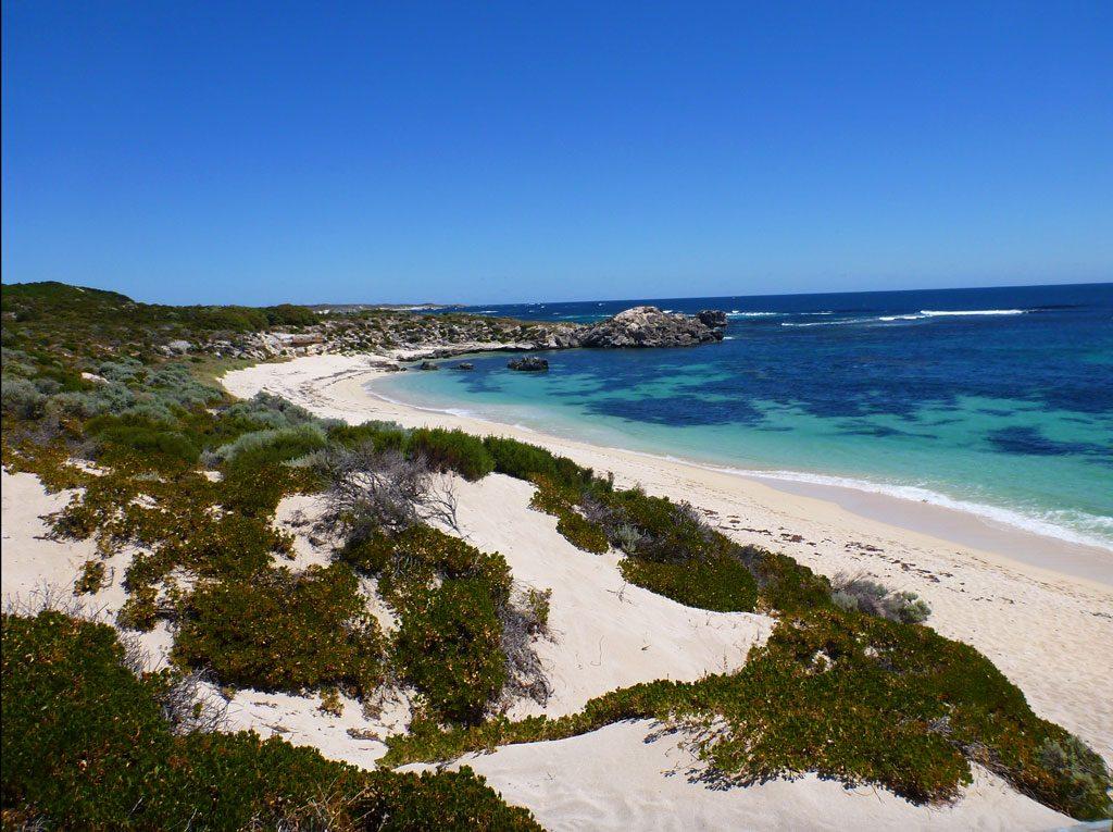Parakeet Bay auf Rottnest Island in Western Australien