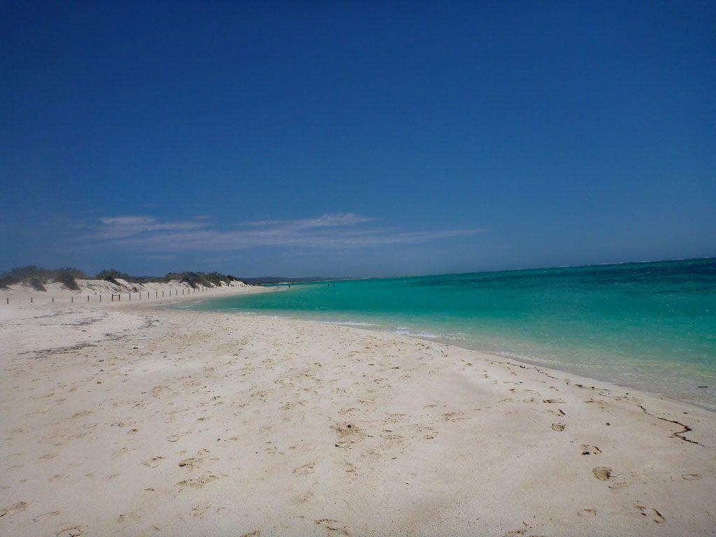 Strand in der Turquoise Bay in Western Australien