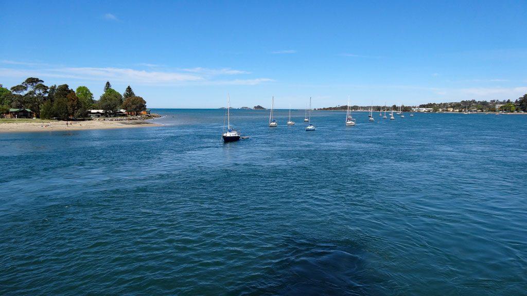 Ausblick vom Hafen Batemans Bay