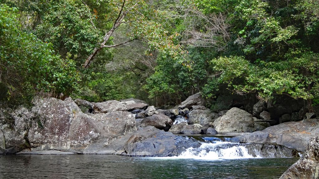 Schwimm-Pool an den Crystal Cascades