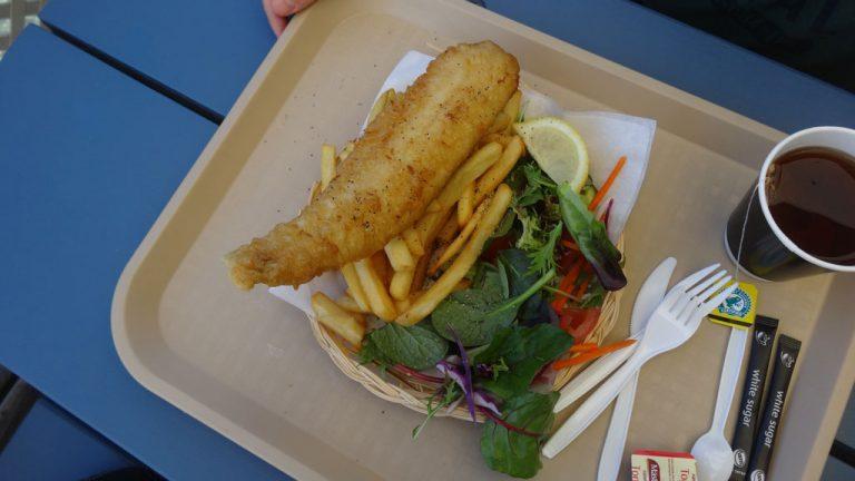 Fish&Chips direkt am Wasser