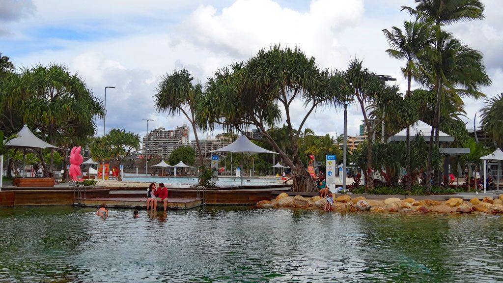 Ausblick auf die Schwimm-Lagune South Bank