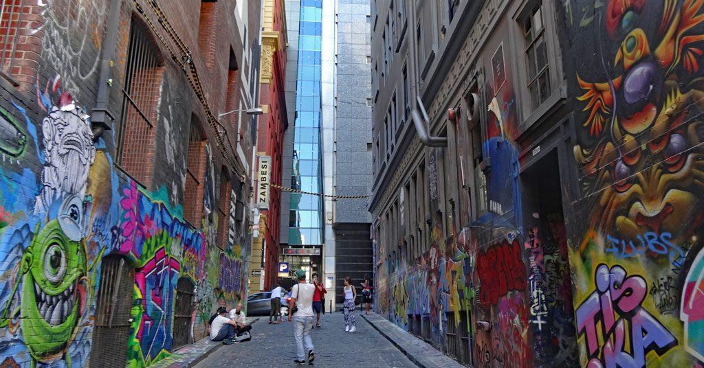 Hosier Lane - Graffiti Kunst in Melbourne