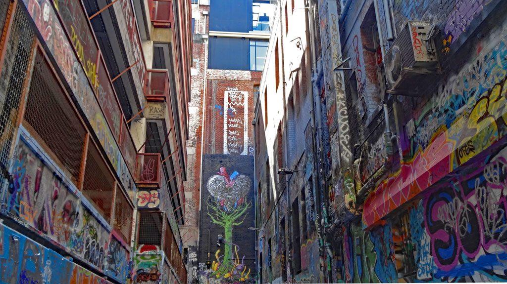 Rutledge Lane - Graffiti Kunst in Melbourne