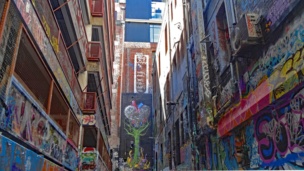 Rutledge Lane - Graffiti Kunst in Melbourne