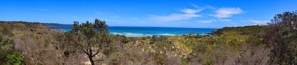 Ausblick auf die Küste