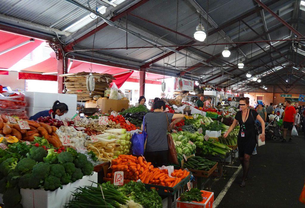 Gemüsestand Queen Victoria Market in Melbourne