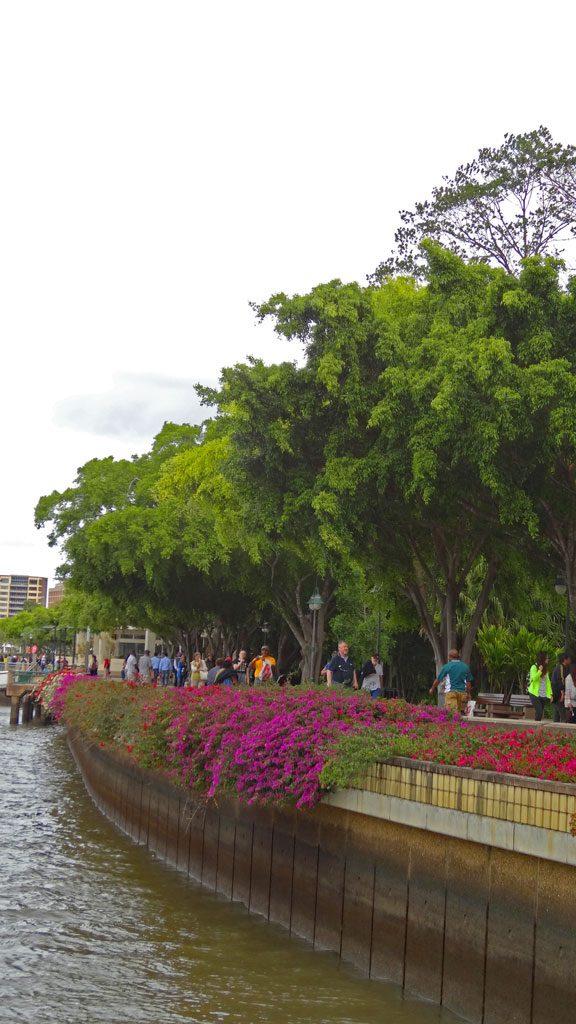 Promenade direkt am Brisbane River