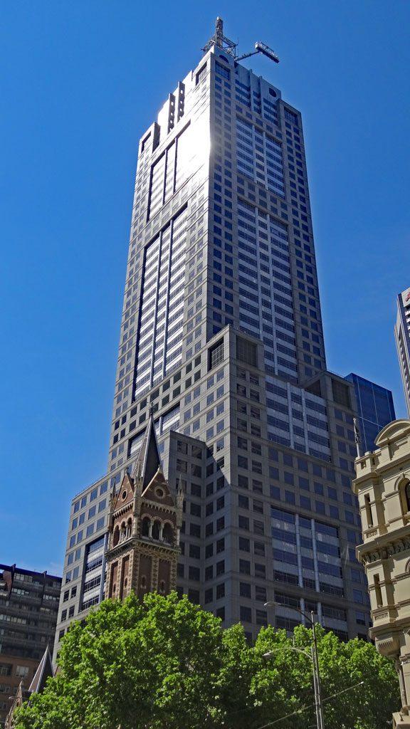 Kontrast alt-neu Melbourne Stadt
