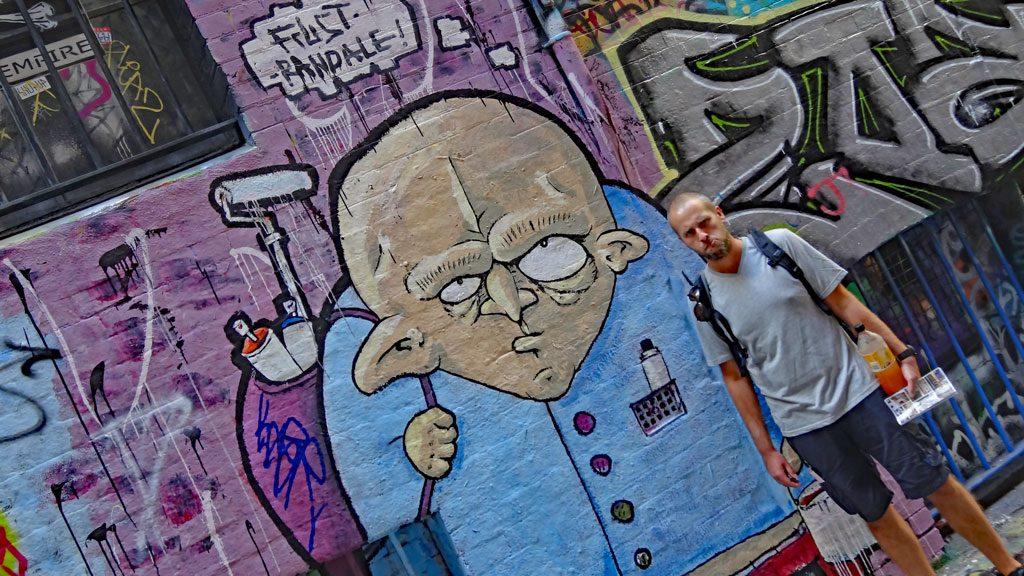 Union Lane - Graffiti Bild in Melbourne