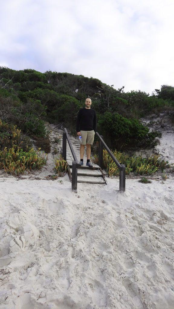 Zugang zum Misery Beach im Torndirrup Nationalpark