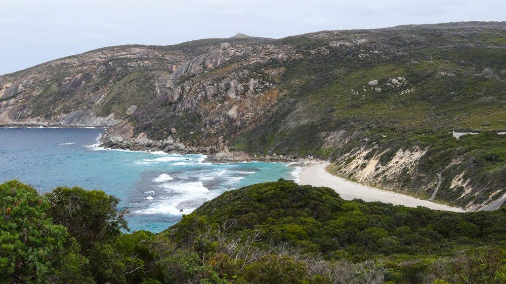 Blick auf die Isthmus Bay, Bald Head Walk