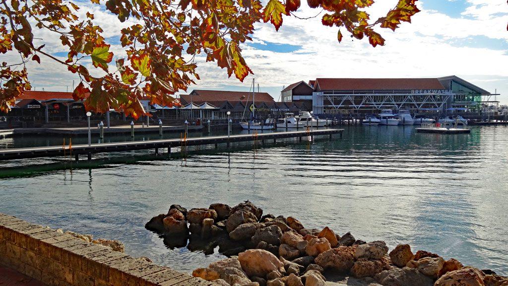 Ausblick auf den Hafen in Hillarys Boat Harbour