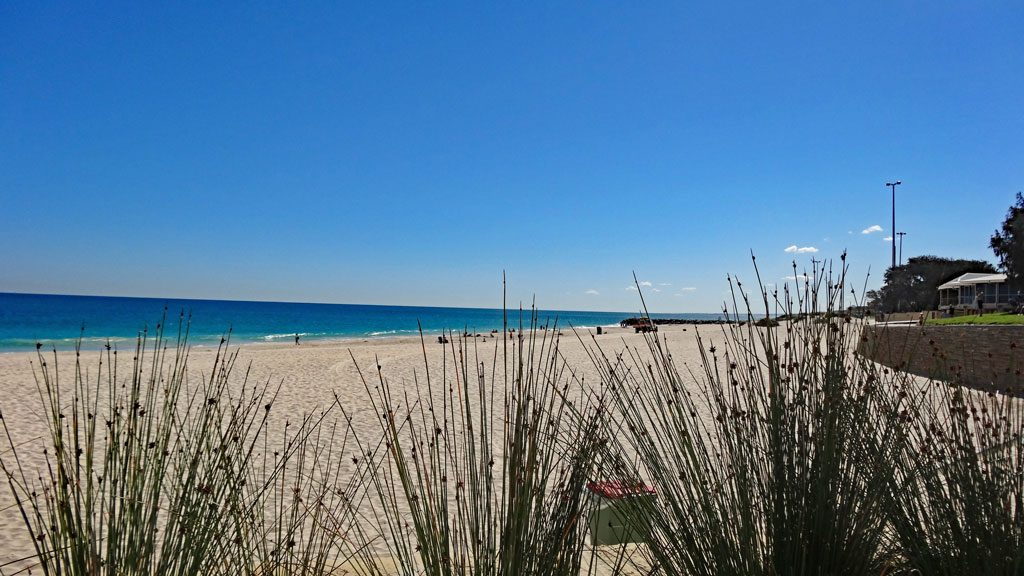 Ausblick City Beach in Perth
