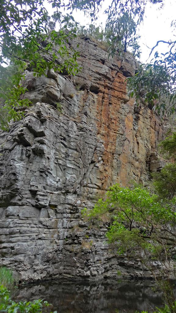 Felsformation auif dem Weg zu den Cumberland Falls