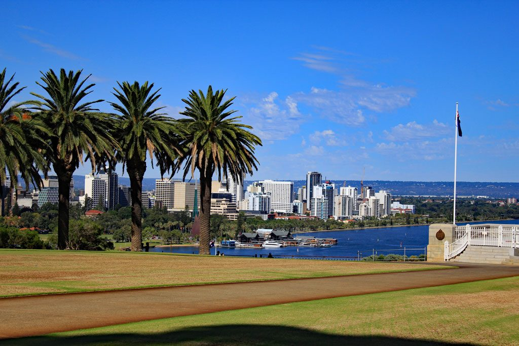 Skyline von Perth vom Kings Park