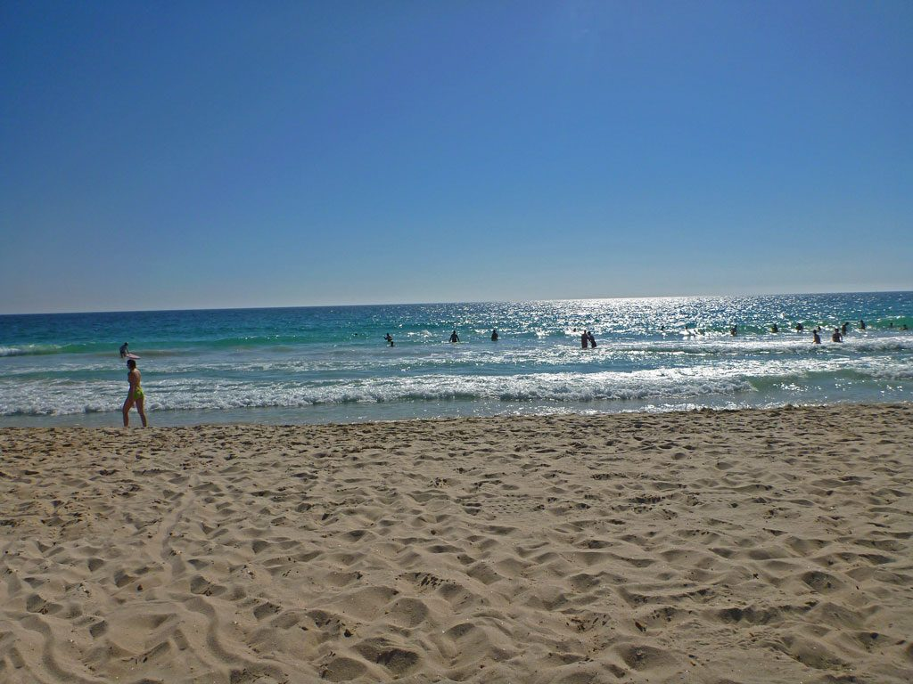 Sandstrand am Scarborough Beach in Perth