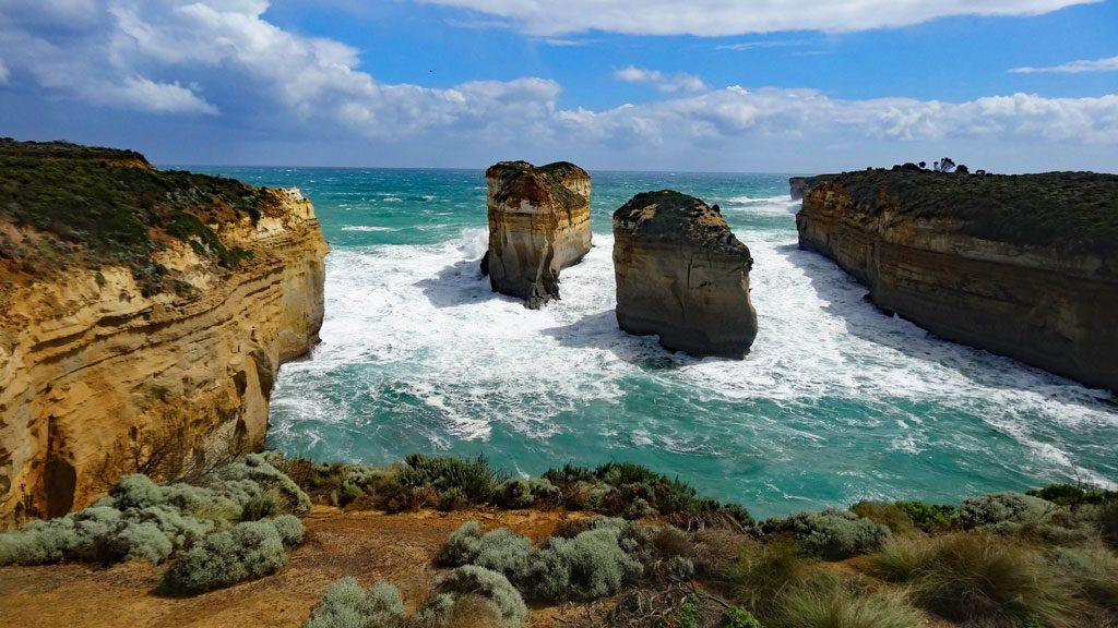 Tom und Eva Felsen an der Great Ocean Road