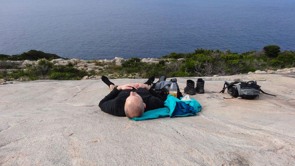 Pause auf dem Bald Head im Torndirrup Nationalpark