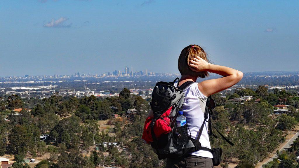 Ausblick auf Perth City vom Lookout