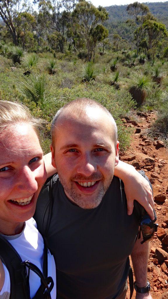 Wanderselfie im John Forrest Nationalpark
