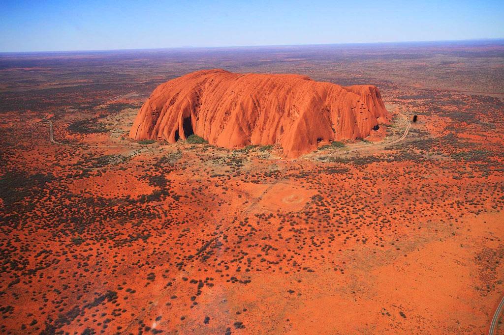 Ayers Rock Im Outback Australien nahe Alice Springs
