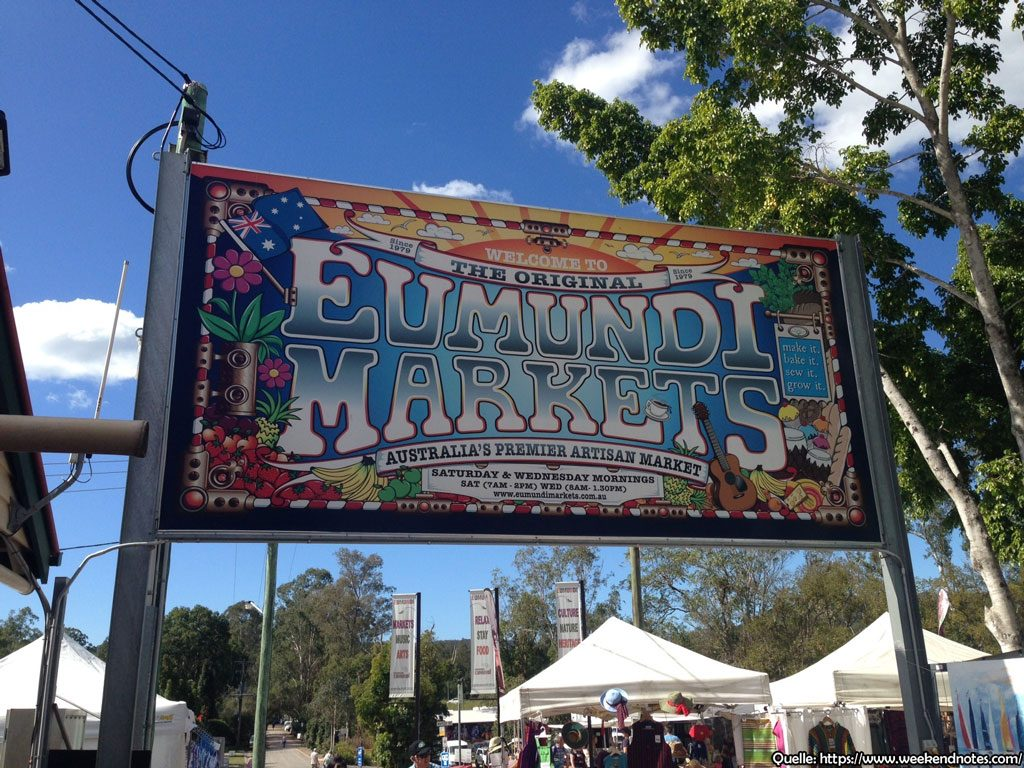 Eumundi Markets in Queensland