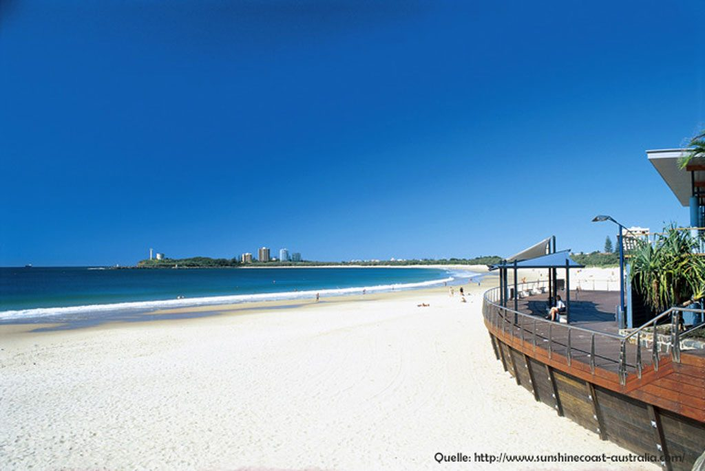 Mooloolaba Beach an der Sunshine Coast