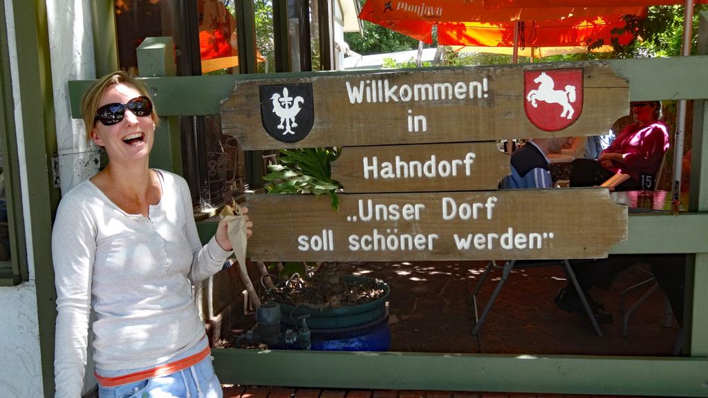 Willkommen-Schild Hahndorf