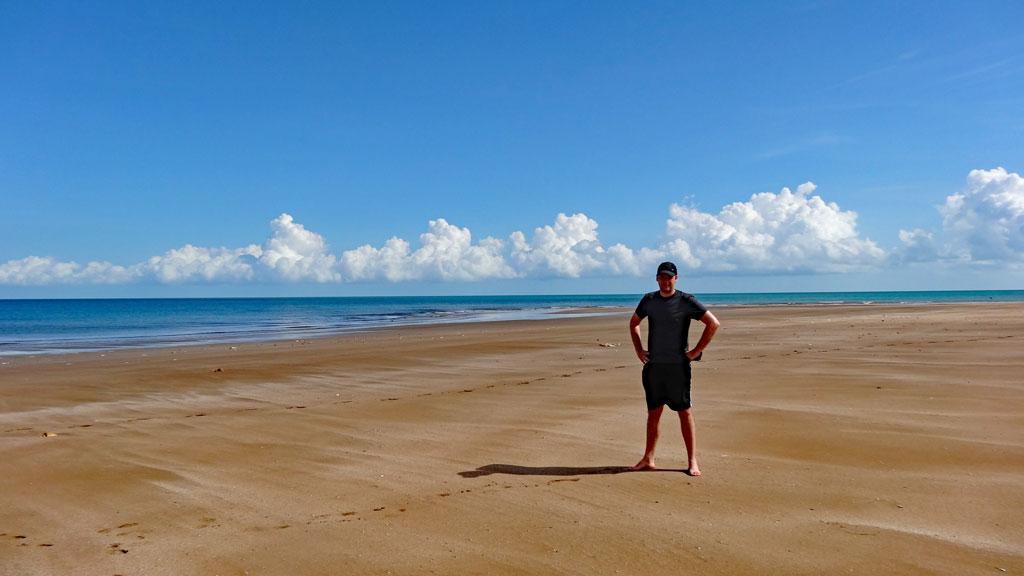 Strand an den Dripstone Cliffs
