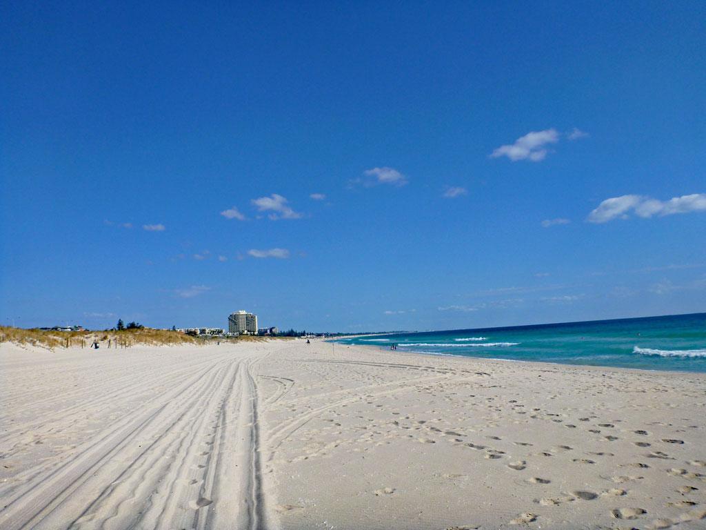 Trigg Beach mit Blick auf den Scarborough Beach