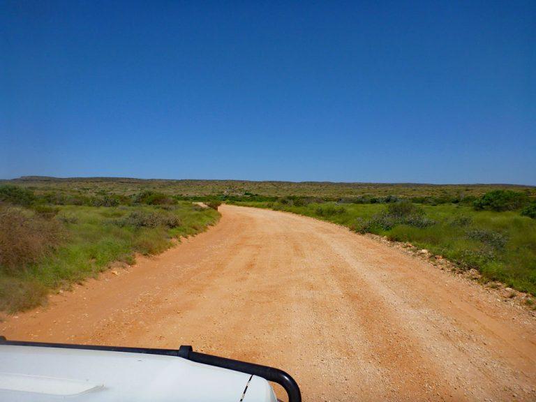 Dirt-/gravelroad in Australien