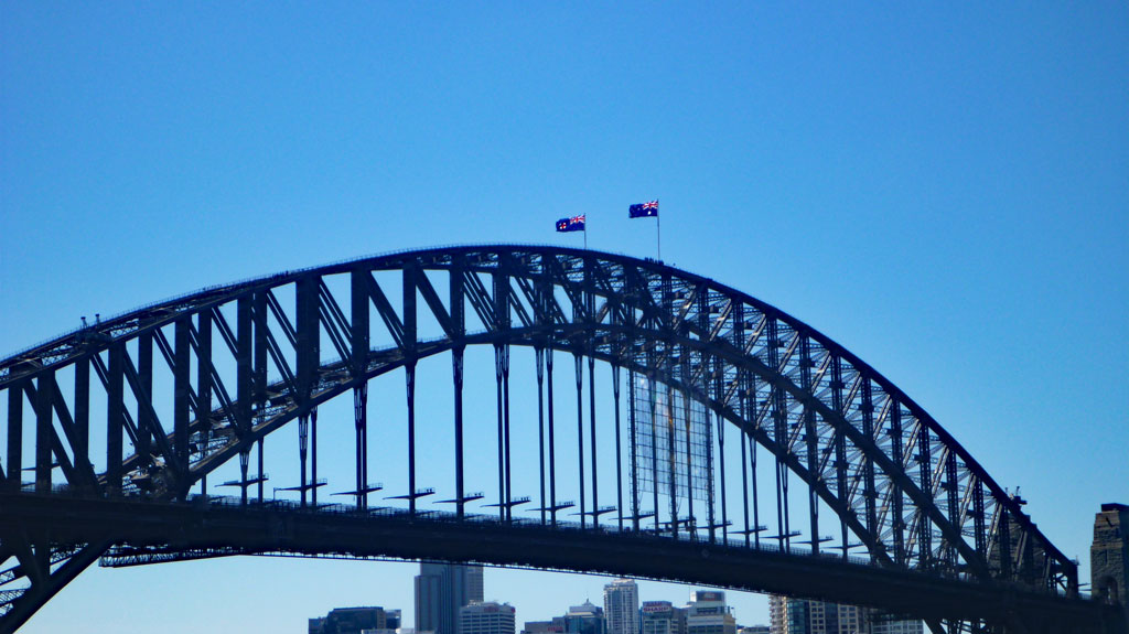 Harbour Bridge Sydney Flaggen