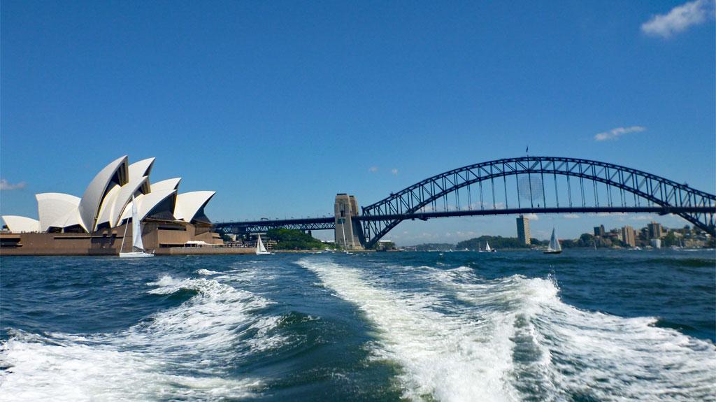 Opera House und Harbour Bridge in Sydney