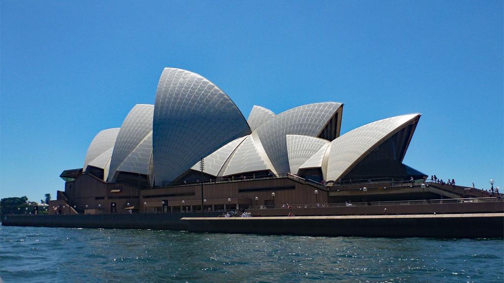 Sydney Opera House vom Wasser