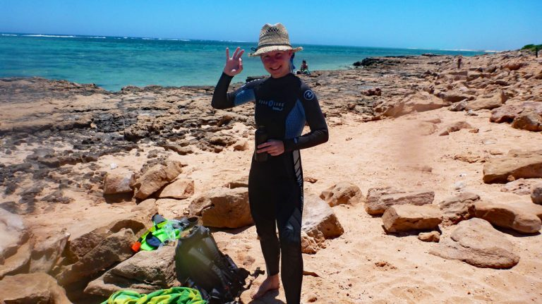 Schnorchel Oyster stacks im Cape Range Nationalpark