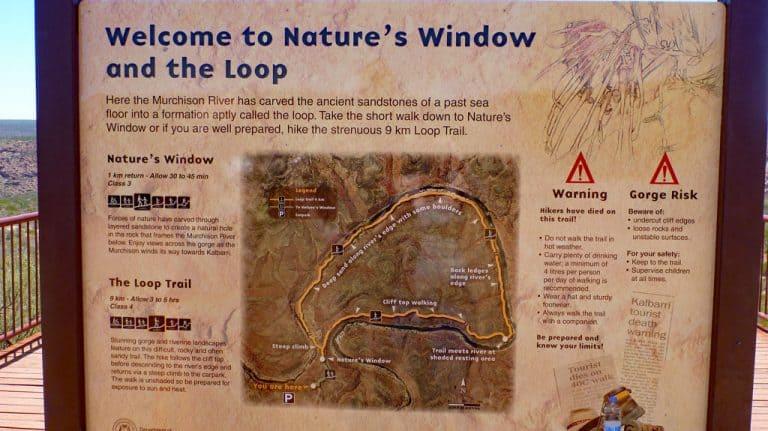 Kalbarri Nationalpark, Australien, Infoschild