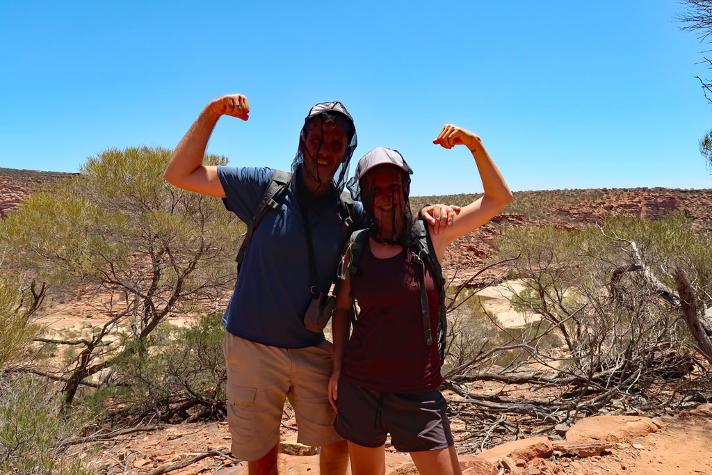 Wanderweg The Loop, am Ziel im Kalbarri Nationalpark, Australien